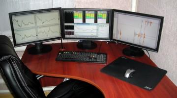 Рабочее место трейдера рынка Форекс