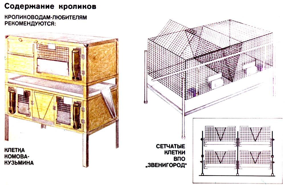 130Клетки для разведения кроликов  чертежи