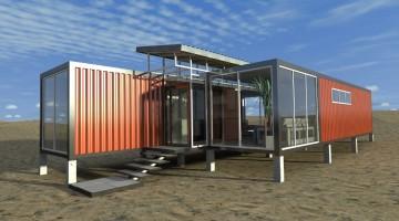 Идеи бизнеса. Дом из железнодорожных контейнеров