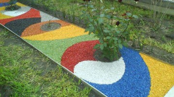 Бизнес идеи — цветной щебень для ландшафтного дизайна