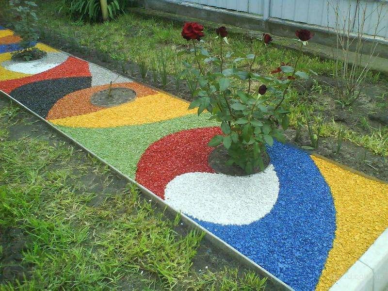 Цветной керамзит для ландшафтного дизайна