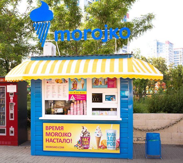Павильон для продажи мягкого мороженого