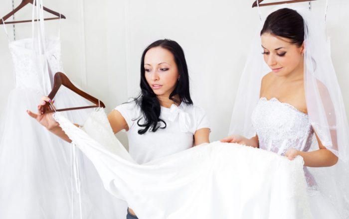 Выбор свадебного платья для клиентки