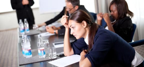 Сотрудники в состоянии уныния